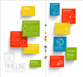 Infographic timeline report template Royalty Free Stock Photo