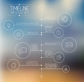 Infographic timeline report template Royalty Free Stock Photography