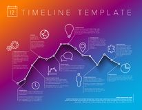 Infographic timeline report template vector illustration