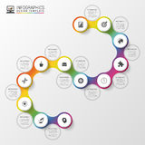 Infographic timeline spiral template. Modern business concept. Vector illustration Royalty Free Stock Photography