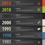 Infographic timeline. tapes concept. Vector template Stock Image