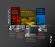 Infographic Timeline Template with big photos Stock Image