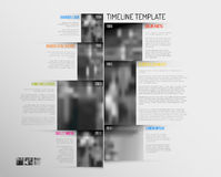 Infographic Timeline Template with big photos Stock Images