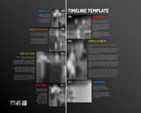 Infographic Timeline Template with big photos Royalty Free Stock Photos