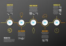Infographic Timeline Template Stock Photo