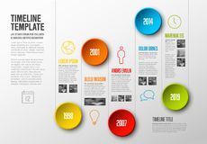 Infographic Timeline Template royalty free illustration