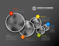 Infographic Timeline Template with photos Royalty Free Stock Image