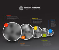 Infographic Timeline Template with photos Royalty Free Stock Photography