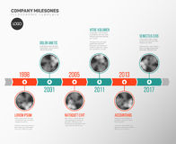 Infographic Timeline Template with photos Stock Image