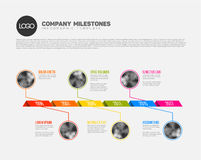 Infographic Timeline Template with photos Stock Photography