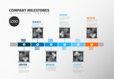 Infographic Timeline Template with photos Stock Images