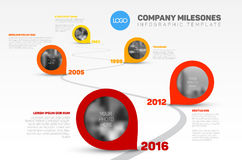 Infographic Timeline Template with pointers Royalty Free Stock Photos