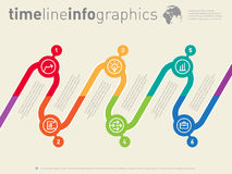 Infographic timeline. Time line of tendencies and trends. Vector Royalty Free Stock Photography