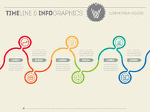Infographic timeline. Time line of tendencies and trends. Vector Stock Photo