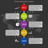 Infographic timeline vector. Royalty Free Stock Photo