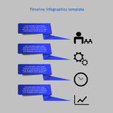 Infographic timeline vector royalty free stock photography