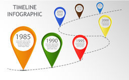 Infographic timeline. Vector Infographic Timeline Template with pointers stock image