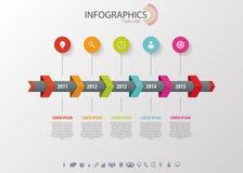 Infographic Timeline, vektordesignmall Royaltyfri Bild