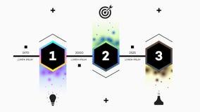 Infographic Timelinekonstruktör Royaltyfri Fotografi