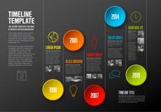 Infographic timelinemall stock illustrationer