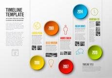 Infographic timelinemall royaltyfri illustrationer