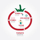 Infographic tomato health concept template design . concept vect Royalty Free Stock Image