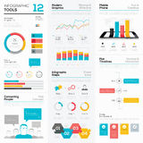 Infographic tools and business vector graphics elements Stock Photos