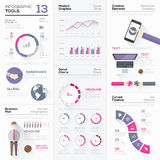 Infographic tools collection and vector graphic elements Royalty Free Stock Photo