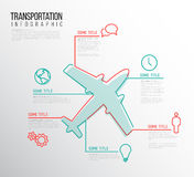 Infographic transport report template Royalty Free Stock Photos