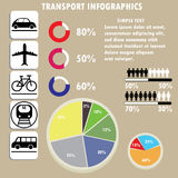 Infographic of transportation concept in editable vector format. Stock Photo