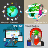 Infographic of travel online service chart diagram, , illu Royalty Free Stock Image