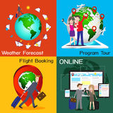Infographic of travel online service chart diagram, , illu Stock Images