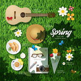 Infographic travel planning a spring vacation Stock Photos