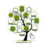 Infographic tree, template for your design Royalty Free Stock Photography