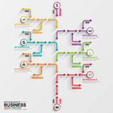 Infographic tree vector design template Royalty Free Stock Photo