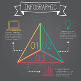 Infographic triangel Arkivbild