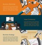 Infographic Tätigkeitsfahne des Geschäfts des Geschäftsmannes und des busine Lizenzfreies Stockfoto