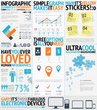 Infographic typography filled easy and fresh vecto Royalty Free Stock Image
