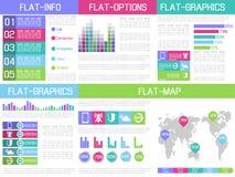 infographic Ui平的设计 免版税库存图片