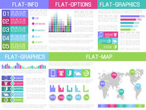 Infographic Ui lägenhetdesign Royaltyfri Bild