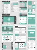 Infographic Ui lägenhetdesign Royaltyfri Fotografi