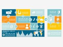 Infographic Ui lägenhetdesign Fotografering för Bildbyråer
