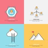 Infographic układ dla sieci i komunikaci Obrazy Royalty Free