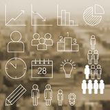 Infographic und Statistikikonen Stockbilder
