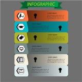 Infographic uppsättning för utbildning. Vektor Arkivfoto