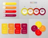 Infographic uppsättning för vektorcirkel Arkivfoton