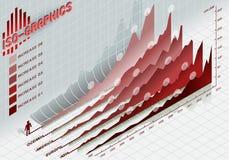 Infographic ustaleni elementy w czerwieni Zdjęcie Royalty Free