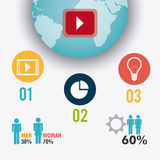 Infographic världsanslutningar och affär Royaltyfri Bild