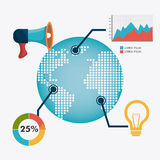 Infographic världsanslutningar och affär Fotografering för Bildbyråer