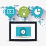 Infographic världsanslutningar och affär Arkivbild